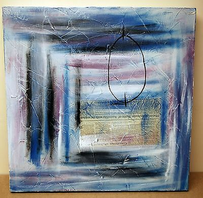 Original Abstract Painting On Canvas