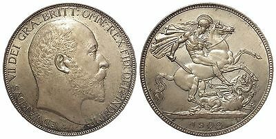 1902  Edward VII Matte proof Crown lightly toned FDC