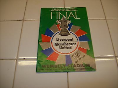 liverpool cup final programme
