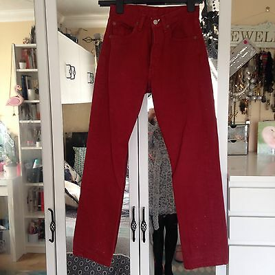 Vintage Red High Waisted Levis Size 6-8