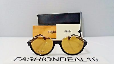 New FENDI Authentic Black Gold FF 0059/S MRZ BZ Limited Edition 52mm Sunglasses