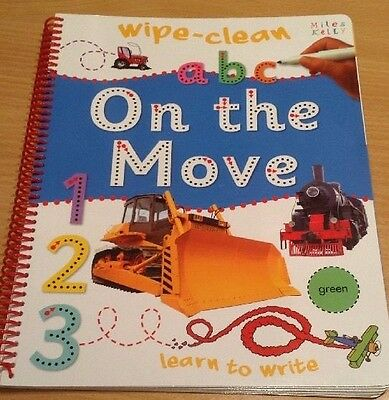 Wipe clean learn to write / activity on the move book - New