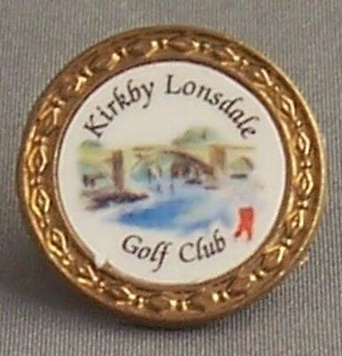 The Kirkby Lonsdale Golf Club Small Stem Type Brass Golf Ball Marker