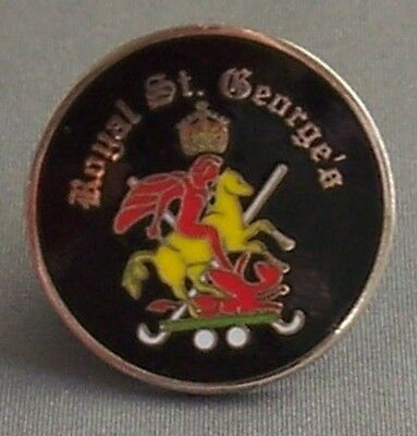 The Royal St. George's Golf Club Double Sided Coin Type Golf Ball Marker