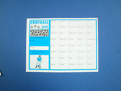 25 x 40 TEAM FOOTBALL FUNDRAISING SCRATCH CARDS FREE SAME DAY POST UP TO 4.30pm