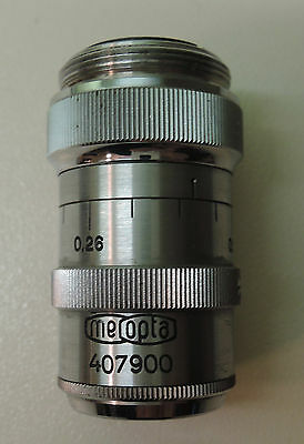 Vintage Objective Microscope 60x Meopta Made in Czechoslovakia