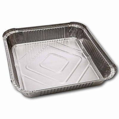 200 x Foil Containers No 9 Shallow Aluminium - Hot Cold Food Takeaways