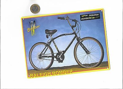 raleigh bomber metal sign , classic bike metal memorabilia TIN SIGN