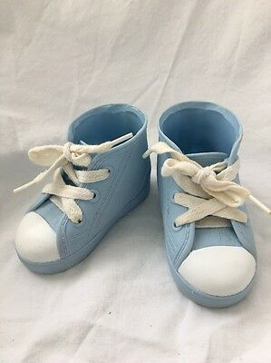 Vintage Playmates Baby Blue CRICKET Doll Shoes Hi Top Runners