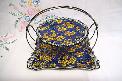 Rare Royal Doulton Prunus Pattern - Cake / Sandwich Stand - Two Tiered