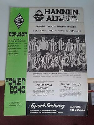 Borussia Monchengladbach v Red Star Belgrade UEFA Final 1979
