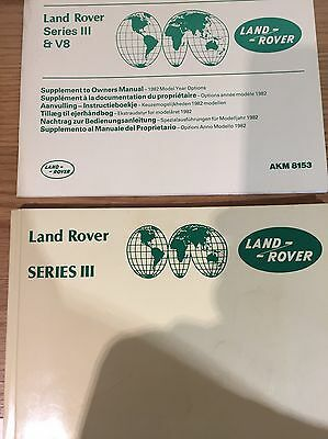 Land Rover Series 3 Owners Manual And Supplement