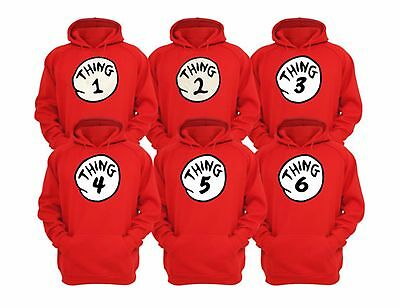 Thing 1 And Thing 2 Dr Seuss sweatshirt YOUTH ALL SIZES  HOODIE Halloween