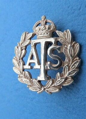 WW2 Auxiliary Territorial Service Silver Sweetheart Brooch Badge