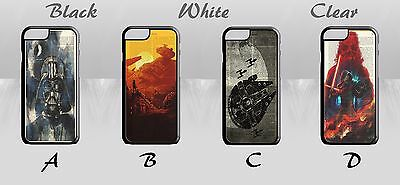 Star Wars Darth Vader R2D2 Falcon Book Page Art Hard Phone Case Cover H1212