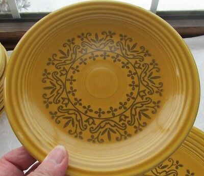 "H Laughlin Fiesta Coventry Casualstone Gold 6 1/4"" Bread Plate (34 Available)"