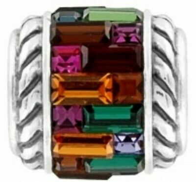 Brighton St Michel Stained Glass Window Swarovski Crystal Cube Charm Bead