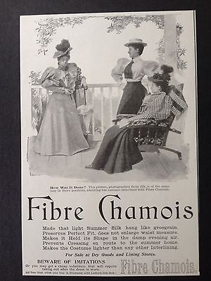 Antique 1895 Ad (1800-12)~Fibre Chamois For Ladies Summer Clothing