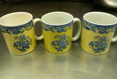 Spode BLUE ROOM 3 MUGS GARDEN COLLECTION ROSA AND JASMINE