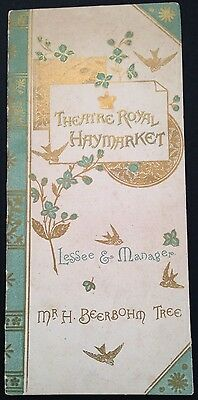 Rare 1889 Theatre Royal Haymarket. MERRY WIVES OF WINDSOR.