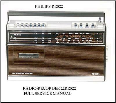 Philips Rr-522 Rr522  - Service Manual Sw World Om Ol Fm , Color