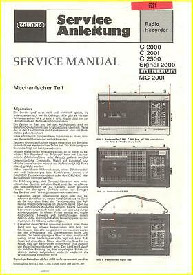 Grundig C2000 Rr Service Manual Sw World Om Ol Fm , Color Hq
