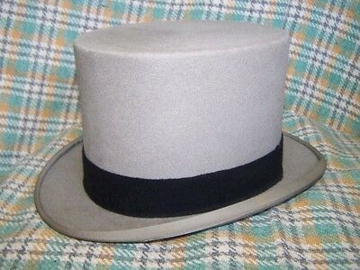Men's Grey Ascot Top Hat, size 7, in good condition MOSS BROS
