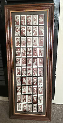 Churchmans Cigarette Cards Complete Set Of 50 Boxing Personalities Mounted Frame