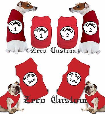 Thing 1 And Thing 2 T-shirts nice cute new  Dog's Pet CUSTOM name mom Halloween