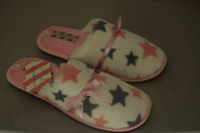 Ladies Womens Scrapbook Slippers Mules Slip Ons New Size 7/8 (Large)
