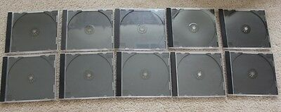 lot of 10 Blank Cases Holder Jewel Case Cover FOR CD & DVD + 2 blank writable CD