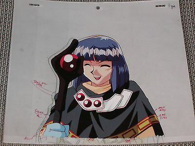 The Slayers hand-painted Production Anime Cel - Xellos + Sketch
