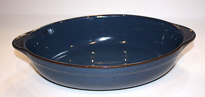 DENBY china BOSTON pattern OVAL BAKER with Tab Handles.