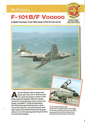 McDonnell F-101 B/F VooDoo Number 118-Group 4 Aircraft of the World Sheet ADCOM