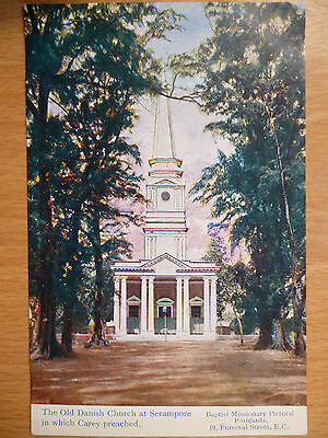 The Old Danish Church At Serampore    Baptist Missionary Postcards