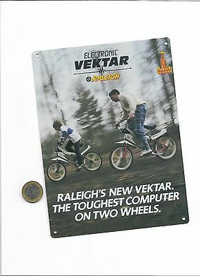 raleigh vektar metal sign , classic bike metal memorabilia sign