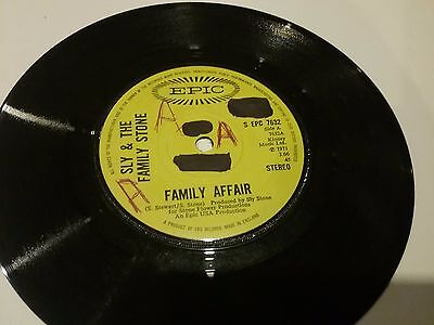 Sly & The Family Stone Family Affair Rare A1/B1 1971 1st UK Epic EPC 7632
