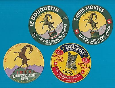 Selection of all different cheese labels ettiquette Fromage formaggio kase #492