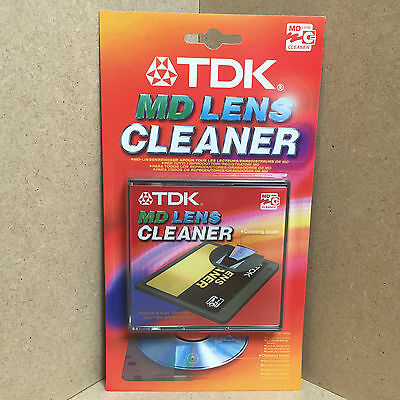 Tdk Mini Disc Player Recorder Md Pickup Lens Laser Cleaner Brush & Sound Check