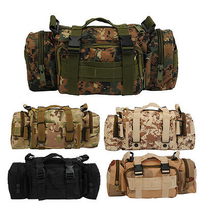 Outdoor Waist Pack Military Tactical Shoulder Molle Bag Camping Hiking Pouch New