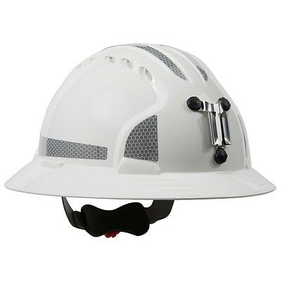 JSP Full Brim Mining Hard Hat with 6 Point Ratchet Suspension, White