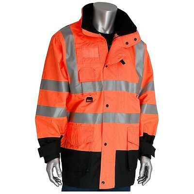 Class 3 Coat 7in1, Insulated Inner Jacket, Zip Cl Hd, OR - 343-1756-OR