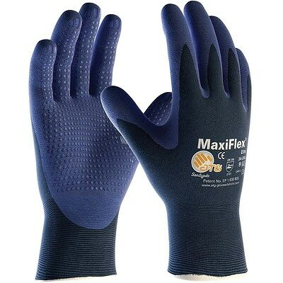 MaxiFlex Nylon Work Gloves with Nitrile Coated Palm, Small