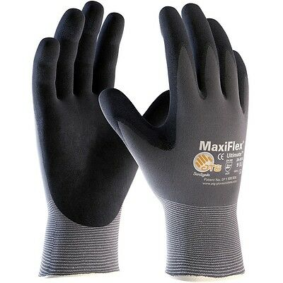 MaxiFlex Ultimate Knit Nylon Work Gloves with Nitrile Foam Coated Grip, Large