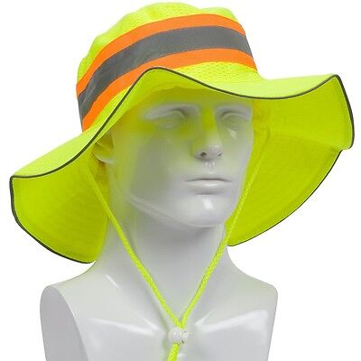 PIP High Visibility Ranger Safety Hat Green with Reflective Stripe