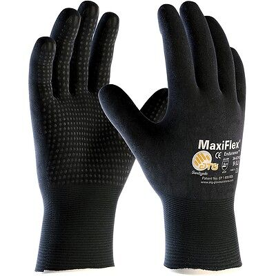 MaxiFlex Knit Nylon Lycra Work Gloves with Nitrile Coated Grip, Small