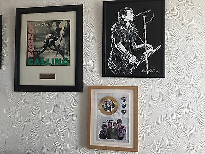Stunning The Clash SIGNED Photo print with picks and cd mounted & framed ex con