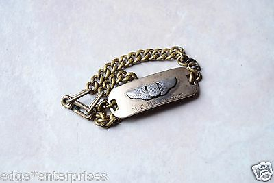 Original WWII era Pilots Identity ID Bracelet US Army Air Corps with Wings