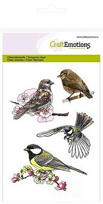 Craft Emotions  Cling Rubber Clear Stamps A6 BIRDS #1250