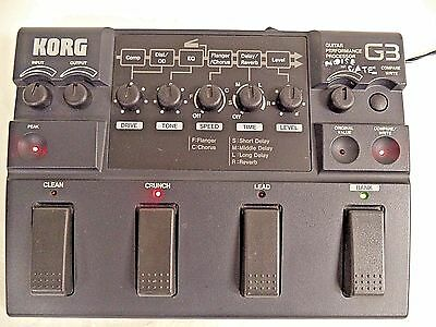 KORG G3 Guitar Pedal Multi Effects Performance Processor Tested Works